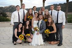 clustered bridal party pose!