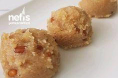 İrmik Helvası Tarifi Krispie Treats, Rice Krispies, Muffin, Food And Drink, Breakfast, Desserts, Candy, Turkish Recipes, Kuchen