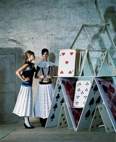 Photographer Denise Grünstein - - - could make the skirt of cards?
