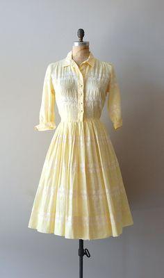 vintage 1950s dress / cotton 50s shirtdress / by DearGolden, $118.00