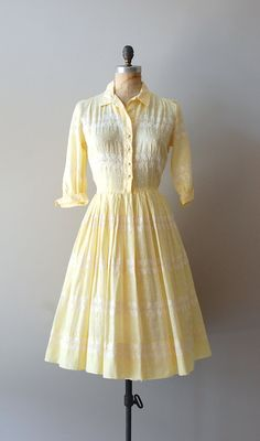 vintage 1950s dress / cotton 50s shirtdress / by DearGolden, $118.00