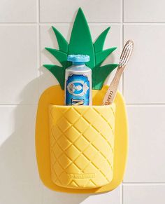 Tooletries Pineapple Toothbrush Holder - my new room - School Outfits Highschool My New Room, My Room, 3d Home, Coastal Bedrooms, Teen Girl Bedrooms, Toothbrush Holder, Toothbrush Storage, Cleaning Wipes, Urban Outfitters