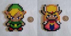Zelda et Link Perler perles