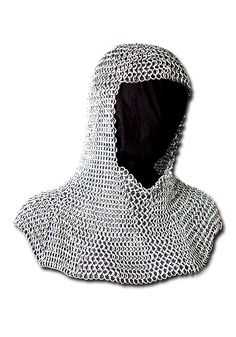 Richard chainmail hood 9mm The Chainmail Hood is made of 9mm chain rings. We recommend to wear a gambeson cap and a padded collar under the Chainmail Hood. Color:  Oil Finish    Material:  9mm chain rings