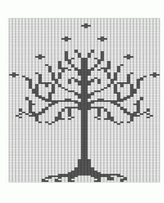 White Tree of Gondor chart. Who knows when I might need this...