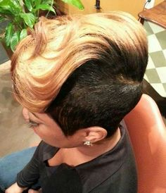 How to achieve the look for a natural: closely shaved sides & a blowout the top after dying hair (do not dye roots!). TL