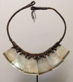 Philippine Ifugao Tribal Shell Necklace by WorldofBacara on Etsy $500.00