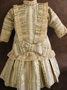 Silk French or German style Antique Doll Dress from fancyandfine on Ruby Lane