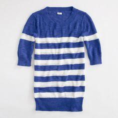 Factory short-sleeve stripe sweater in neon azalea - $49.50