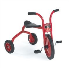 """he Angeles 10"""" Classicrider Trike is a solid ride on toy for preschools and day cares that is built to last and made for fun. Ready from the second you receive it( assembled) so your little one can jump on and ride. e.g http://www.sensoryedge.com/angeles-classicrider-10-inch-trike.html"""