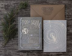 Oh So Beautiful Paper: Sarah + Michael's Vintage-Inspired Wedding Invitations