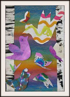 MaryMaking: Lois Ehlert Inspired Bird Collages. 2's.
