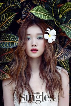 Lee Sung Kyung shows her stuning beauty as a bride in wedding pictorial for Singles - Latest K-pop News - K-pop News Korean Actresses, Korean Actors, Female Actresses, Korean Beauty, Asian Beauty, Korean Makeup, Korean Magazine, Marie Claire, Weightlifting Fairy Kim Bok Joo
