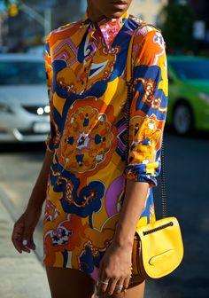 Bold Pucci-esque vintage dress