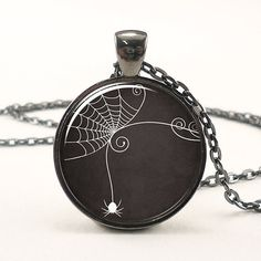 Necklace Spider Web Pendant