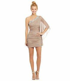 Honey and Rosie Batwing-Shoulder Beaded Dress | Dillard's Mobile