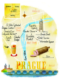 Prague map by Scott Jessop. November 2015 issue
