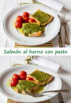 Salmón al horno con Pesto, una combinación que no deja indiferente a nadie.