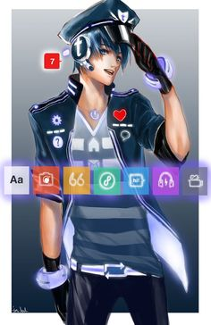 Social Media Sites and Browsers as Anime Characters (by *Jon-Lock)