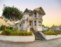 """Wonderful old Victorian ~ """"Dr. Hart's Mansion - Pacific Grove, CA by Axe. Beautiful Buildings, Beautiful Homes, Victoria House, Second Empire, House Restaurant, Painted Ladies, Home Wallpaper, Old Houses, My House"""