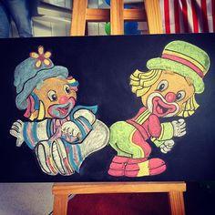 Arte em lousa por @clebcoli @clebcoliprojetos   Aniversário Tema: Patati Patatá.    #arteemlousaporclebcoli #arteemlousa #emminhafesta #patatipatata #circo #lettering #chawkboard
