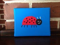 Small Ladybug #1 Fabric Art by CottonwoodCove on Etsy