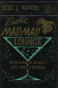 Exotic Mau Mau Lounge #frontstriker #matchbook