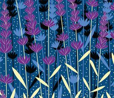 lavender fabric by gracedesign on Spoonflower - custom fabric- NUMBER 8 of the Bedtime Stories Design Contest! Congratulations :-)