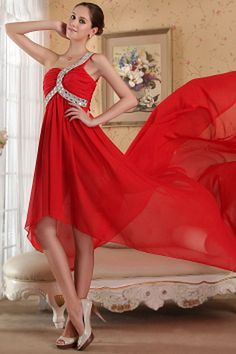 Elegant Red Chiffon Formal Dresses - Order Link: http://www.theweddingdresses.com/elegant-red-chiffon-formal-dresses-twdn1762.html - Embellishments: Beading , Ruched , Sequin; Length: Court Train; Fabric: Chiffon; Waist: Natural - Price: 145.2USD