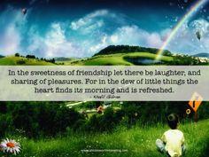 Sweetness of friendship
