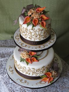 Fall Wedding Cake    #WeddingCakes #Weddings