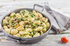 Gnocchis brocolis crème de parmesan, noix et tomates cerises