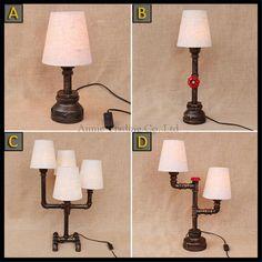 LED Büro Schreib Tisch Lampe Chrom Edelstahl Baum Muster Beleuchtung Nachttisch