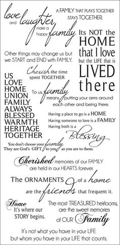 Family Rub-On Quotes 471424
