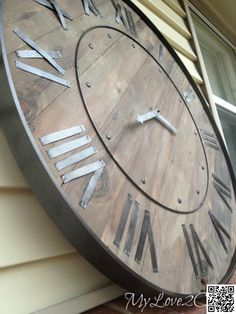 3. #Rustic Metal - 9 #Incredibly Fantastic DIY #Large Wall Clocks ... → DIY…