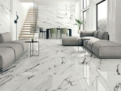 Barana supplies a wide assortment of tile colors and choices including white . Barana supplies a wide assortment of tile colors and choices including white marble flooring, carrara marble floor tile bathroom. Free sample on all tile. Marble Porcelain Tile, Ceramic Floor Tiles, Carrara Marble, Statuario Marble, Calacatta, Modern Floor Tiles, Ceramic Flooring, Marble Tiles, Villa Design