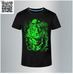 Casual glowing 3d printed short sleeve wolf neon funny t-shirt www.yopt.su