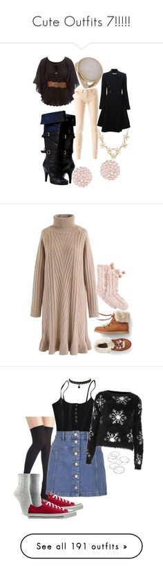 """""""Cute Outfits 7!!!!!"""" by kelseystan97 ❤ liked on Polyvore featuring Tommy Hilfiger, Jane Norman, Givenchy, Swarovski, Mini Cream, Dorothy Perkins, Chicwish, UGG, Topshop and Forever 21"""