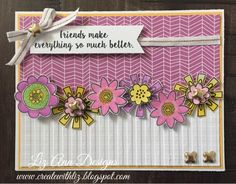 Create with Liz: Friendship Card using Watercolor Paints Cricut Cards, Friendship Cards, Scrapbook Designs, Heart Cards, Close To My Heart, My Stamp, Watercolour Painting, Your Cards, Card Stock