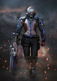 Soldier 76 - https://ing9.artstation.com/
