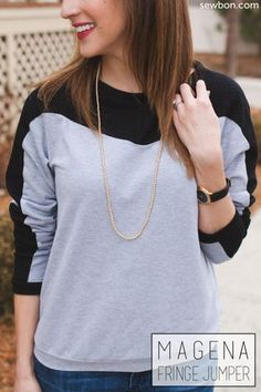 DIY Sweater Sewing Pattern | Get inspired to make your own clothes at http://www.sewinlove.com.au/category/fashion/