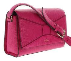 Kate Spade Bridge Place Betsi Leather Shoulder Bag Crossbody Fuschia Pink Bow #katespade #MessengerCrossBody