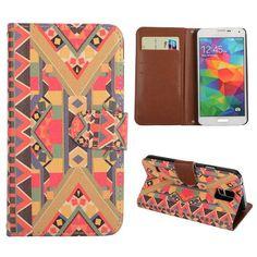 Tribal stijl booktype hoesje voor Samsung Galaxy S5