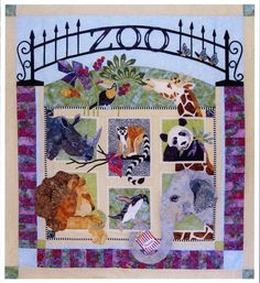 Java House Quilts Zoo It Yourself Lion Giraffe Animal 7-Pattern BOM Applique Quilt Pattern Set