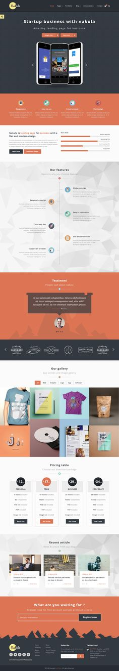 Nakula - Responsive Bootstrap App Landing Page Template  comes with 12 index variants, 8 color options, working contact form, shopping page ready, full components with shortcode, PSD layered, etc. #startup #marketing #website