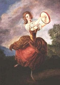 Jean-Frederic Schall (French painter, 1752-1825) Dancer with a Tambourine 1780s