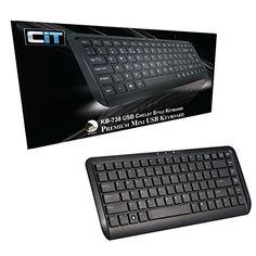 From 8.99 Cit Kb-738 Premium Mini Usb Keyboard - Black