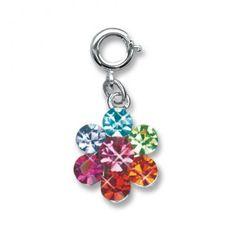 Charmit Rainbow Daisy Charm - $5.00
