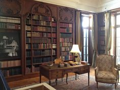 library of writer Edith Wharton's country house The Mount in Lenox, Massachusetts, USA
