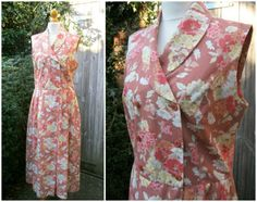 d853bdec95 80s Laura Ashley Long Floral Dress in Dusky Pink Brown Cotton and Linen UK  12 14